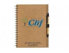 Caderno Ecológico com Caneta Personalizado IN030